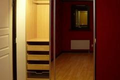 Раздвижная двустворчатая зеркальная дверь для шкафа