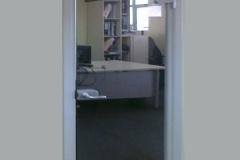 Распашная одностворчатая зеркальная дверь