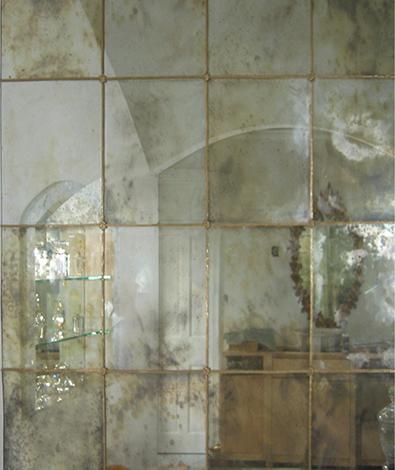 зеркальное панно из состаренных зеркал