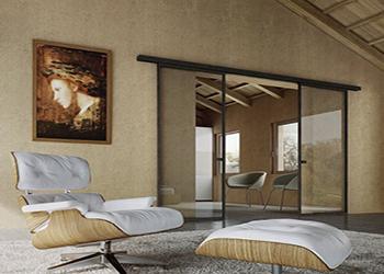 Двустворчатые раздвижные стеклянные двери