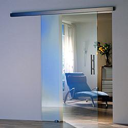 Одностворчатые раздвижные стеклянные двери